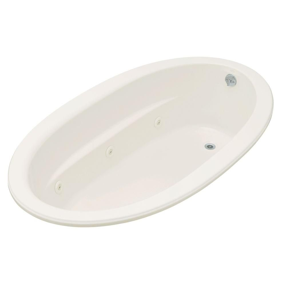 KOHLER Sunward 6 ft. Acrylic Oval Drop-in Whirlpool ...