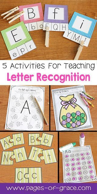 Letter Recognition  Worksheets Activities And Kids Learning