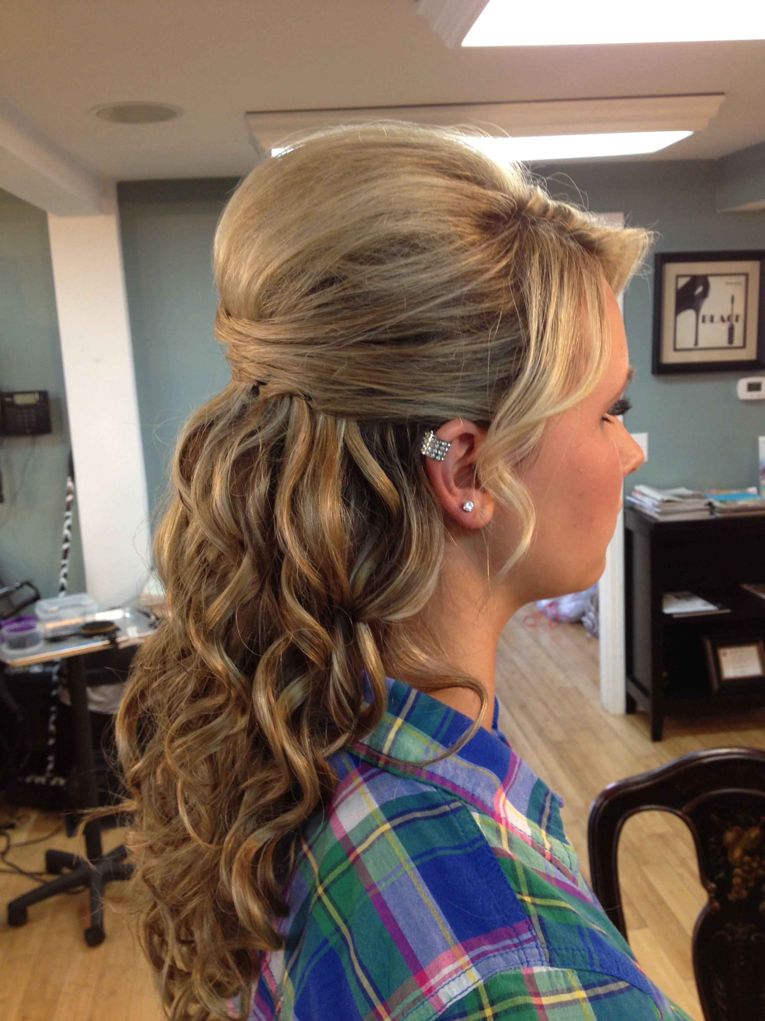 Prom hair love the top but would make it an updo prom pinterest