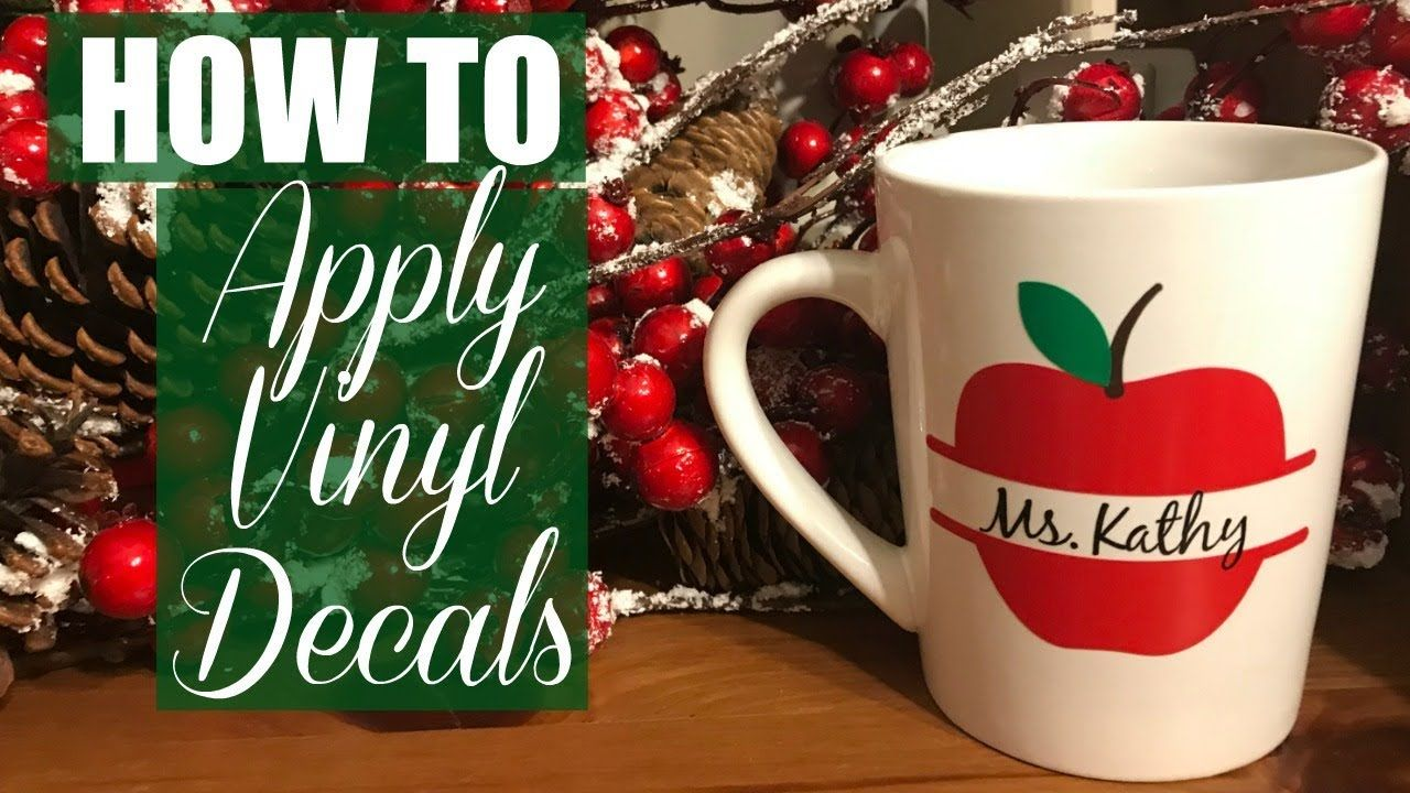 How to make and apply vinyl decals with cricut youtube