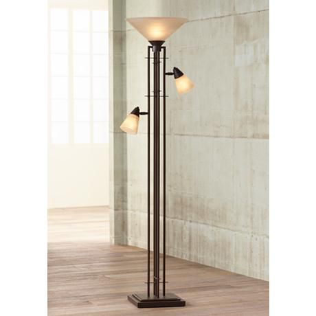 Metro Collection 3 In 1 Torchiere Floor Lamp 27340 Lamps Plus Torchiere Floor Lamp Lamp Floor Lamp