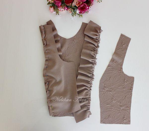 Fırfırlı Çelik Örme Elbise
