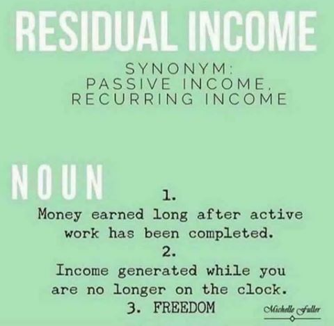 "Do you understand ""residual income""? Those who do would walk through fire to receive it!  Are you willing to work hard for 3-5 years? Residual income offers you the opportunity to reap what you sow!    Do you realize that residual income creates a financial legacy??"