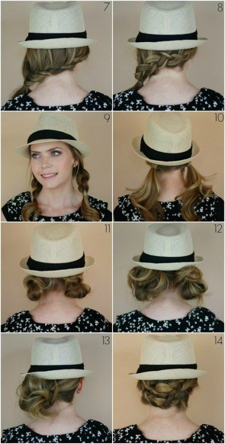 14 Hairstyles With A Fedora Hat Hairstyles Hair Styles Shoulder Hair