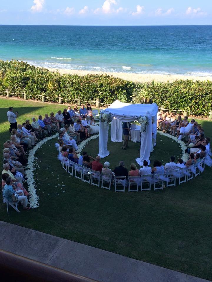Disney S Vero Beach Resort Croquet Lawn Spiral Ceremony Set Up