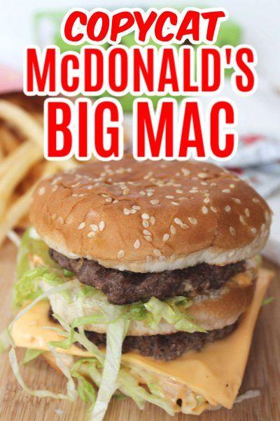 With this Copycat McDonald's Big Mac recipe, you can ...