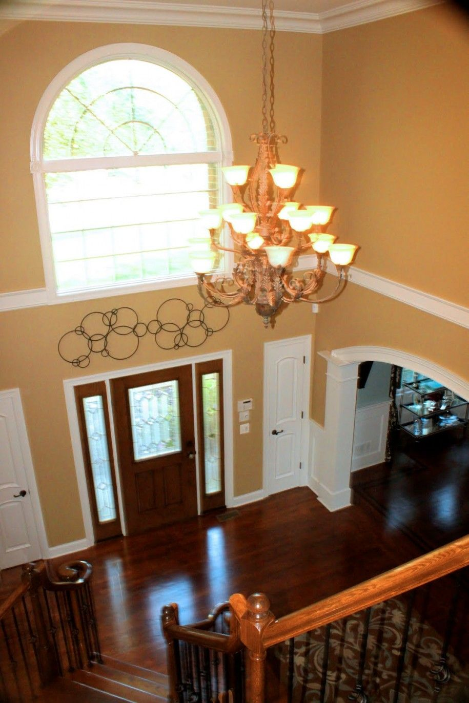 How To Decorate A Foyer With High Ceilings Google Search Foyer Lighting Fixtures Foyer Wall