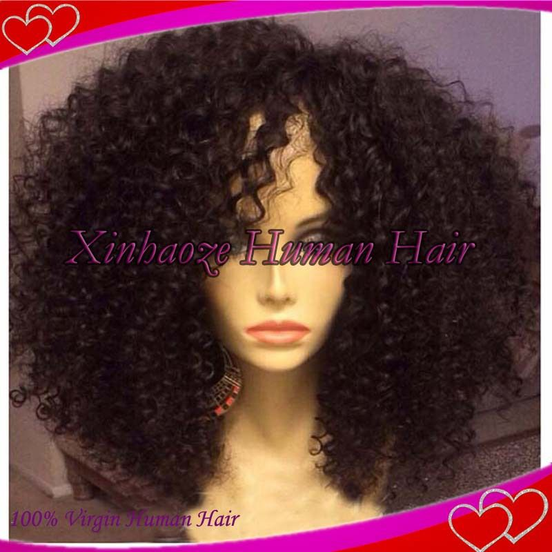 I WANT THIS!! Cheap Afro Kinky Curly Wig For Black Women Human Hair Full Lace Wigs & Front Lace Wigs Bleached Knots Natural Looking-in Wigs from Beauty & Health on Aliexpress.com | Alibaba Group