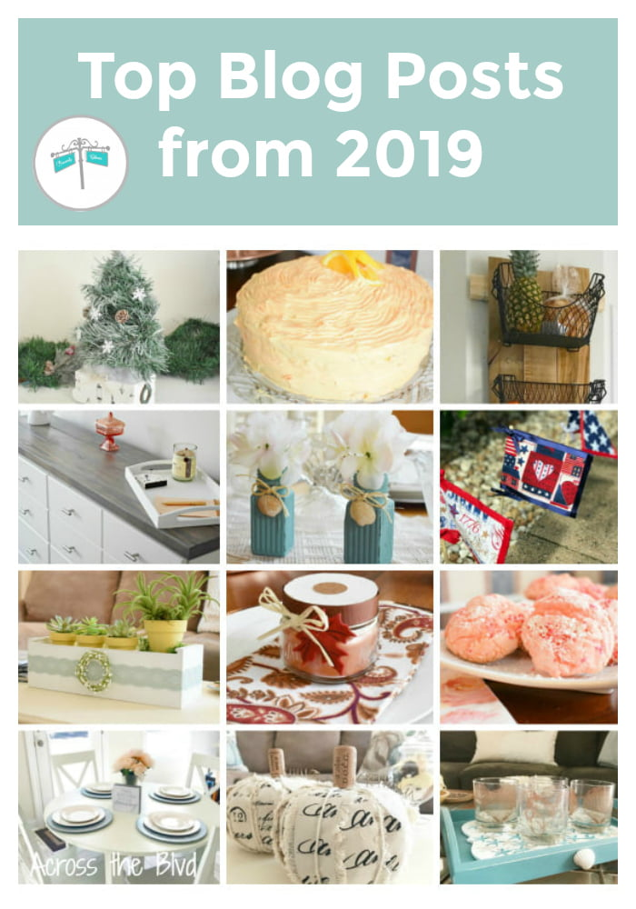 Looking back at projects from Across the Blvd for 2019 #topposts #acrosstheblvd #yearendreview #diyprojects #crafts