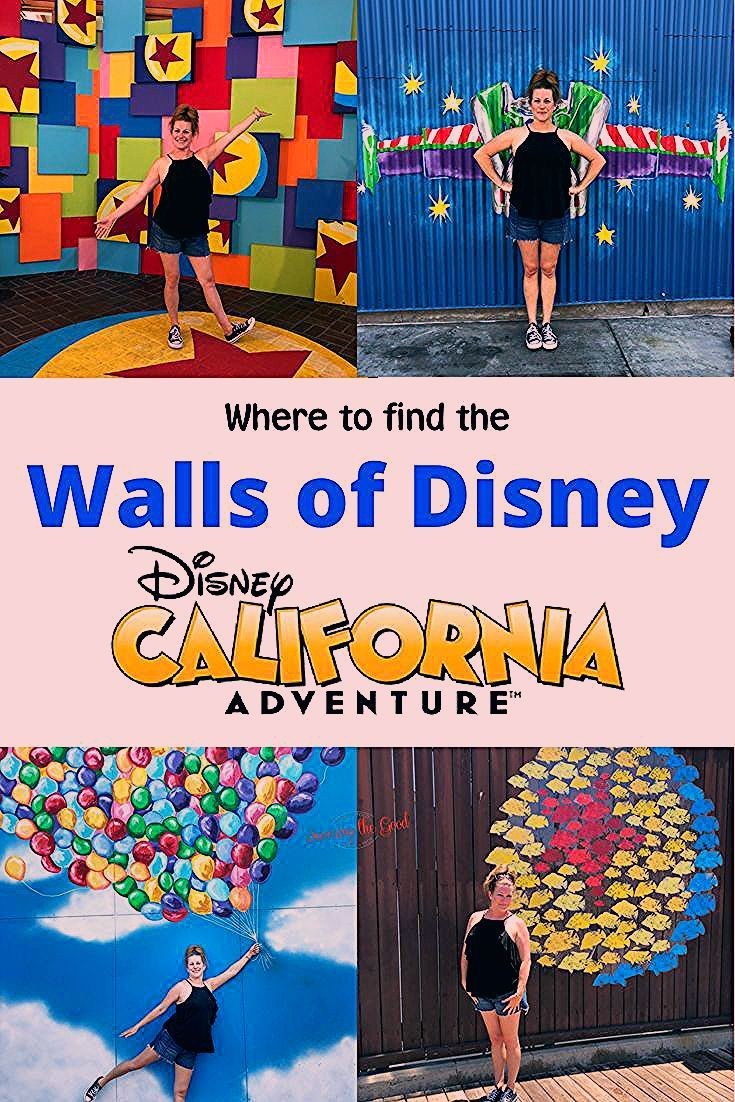 Where to find the Disney Walls in Disney California Adventure