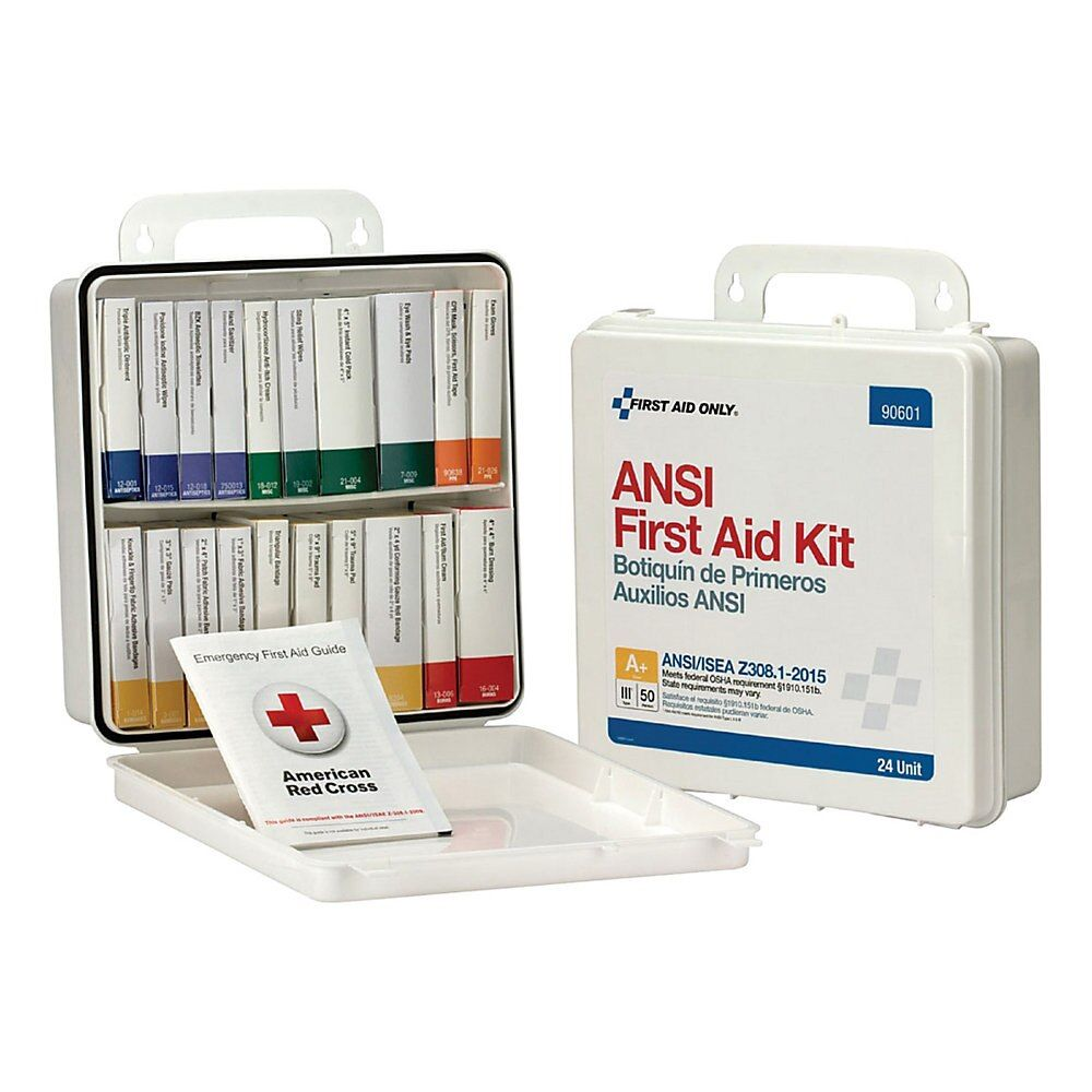 First Aid Only 50 Person First Aid Kit 10 H X 10 W X 3 D White Item 464639 First Aid First Aid Kit First Aid Only