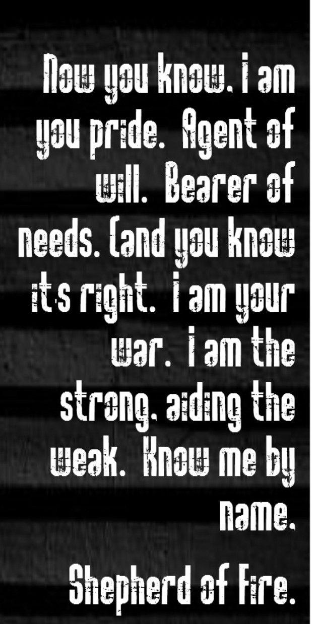 Avenged Sevenfold - Shepherd of Fire - song lyrics, song