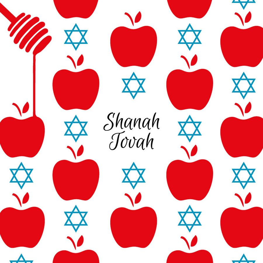 Sweet Celebration Jewish New Year Greeting Card By Ananya Cards