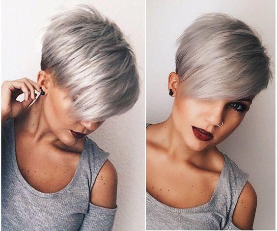 trendy grijze kapsels