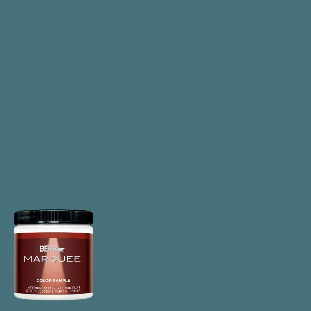 BEHR MARQUEE 8 oz. #hdc-FL15-03 Blue Sage Interior/Exterior Flat/Matte Paint Sample