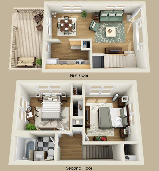 Floor Plan apartment plans and design Pinterest Plans maison - plan de maison moderne 3d