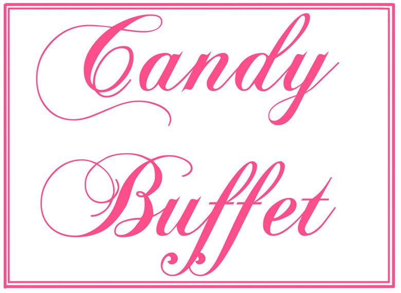 Awesome Custom Printable Wedding Candy Buffet Sign Via Etsy Download Free Architecture Designs Intelgarnamadebymaigaardcom
