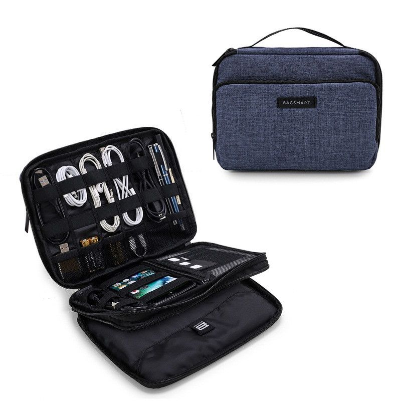 2c90373ac239 Electronic accessories and cable organizer bag This electronics and cable  organizer has separate sections to keep your electronics organized.