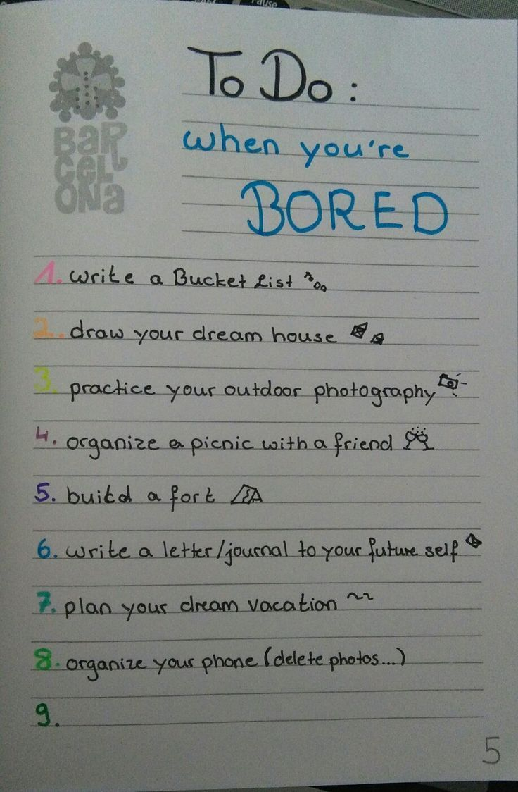 Things To Do When You Re Bored Journal Things To Do When Bored