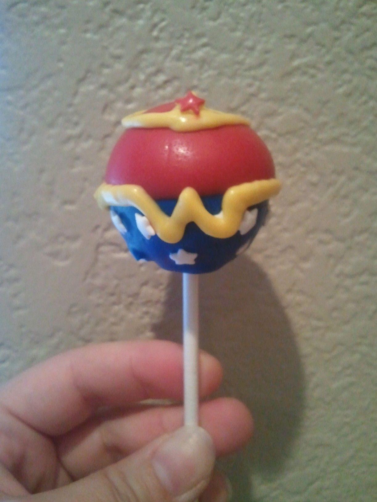 Wonder Woman Cake Pop