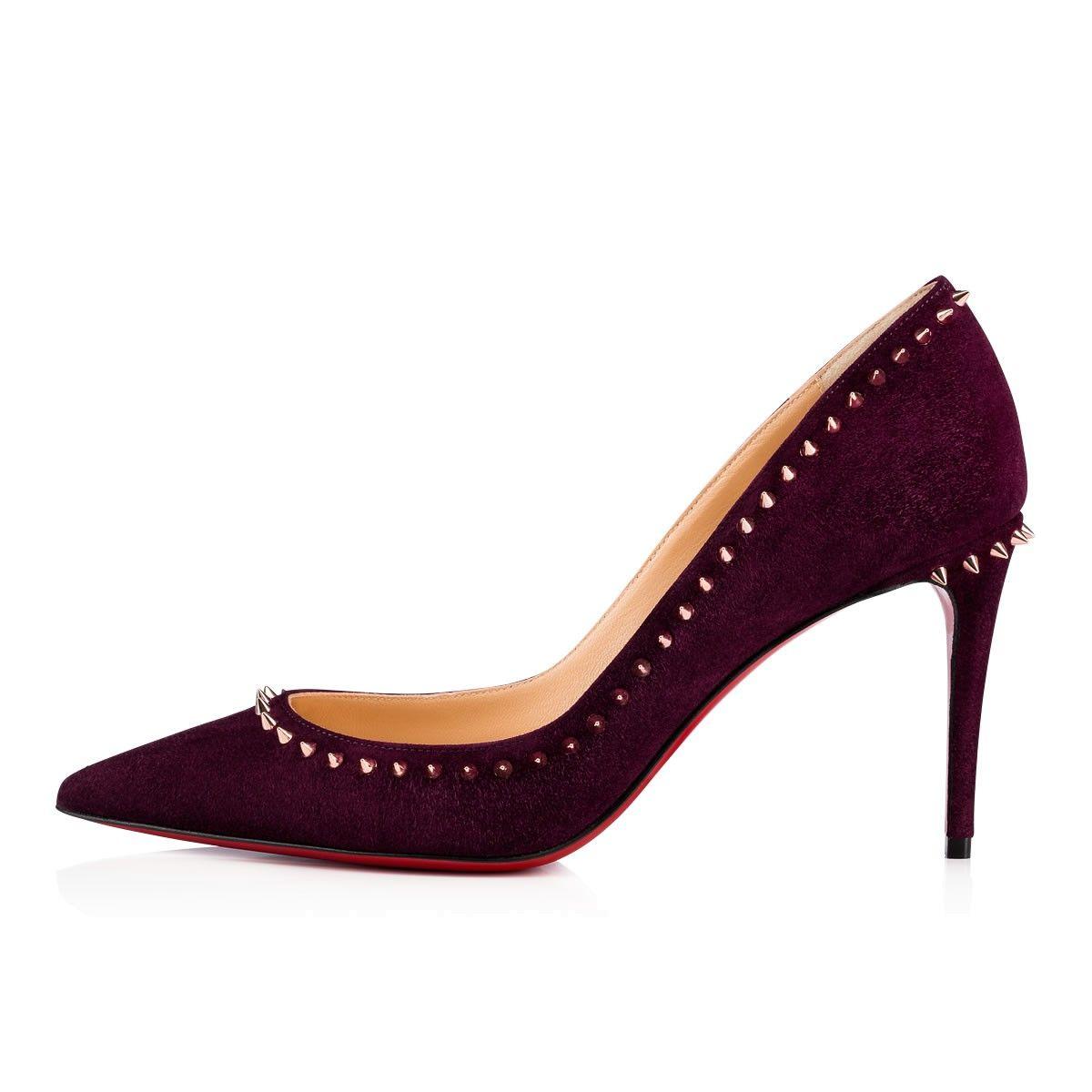 cedbf320d28b Anjalina 85 Merlot Copper Suede - Women Shoes - Christian Louboutin