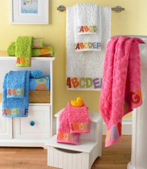 Toallas con bellos colores para tu bebé