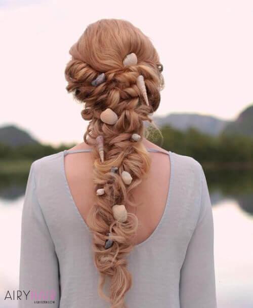 Top 37 Inspired Mermaid Hair Extensions And Hairstyles 2020 Hair Styles Beach Wedding Hair Short Thin Hair