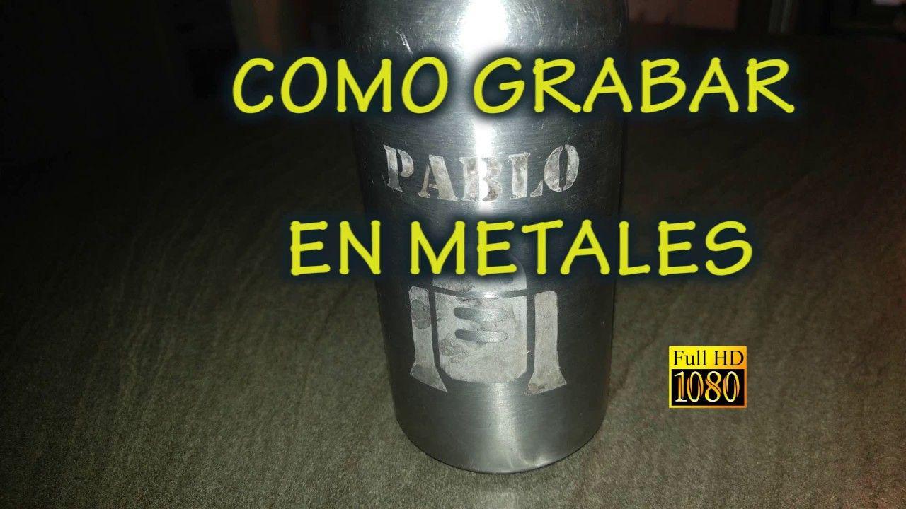 Como Grabar Metales Electrograbado Grabar Metal Cuchilleria Artesanal Grabado