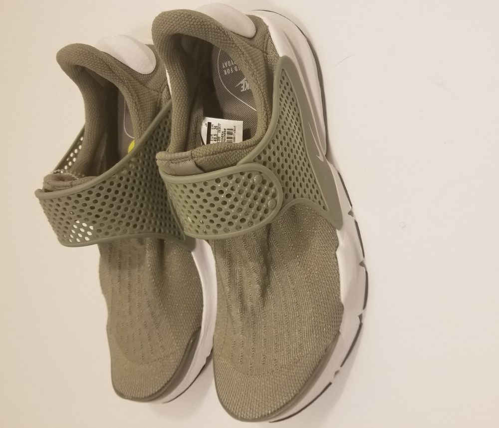 e5a8e0430d76 NIKE WOMENS AIR SOCK DART SZ 9 RUNNING DARK STUCCO BLACK WHITE OLIVE 848475  005  fashion  clothing  shoes  accessories  womensshoes  athleticshoes (ebay  ...
