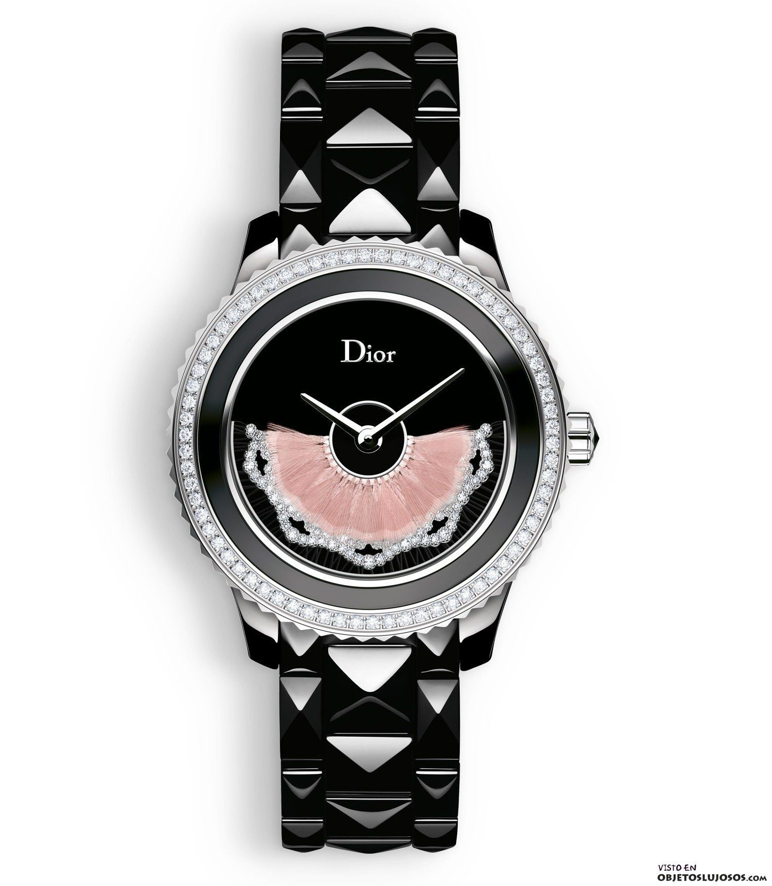 reloj Dior con diamantes  502d9897e69a