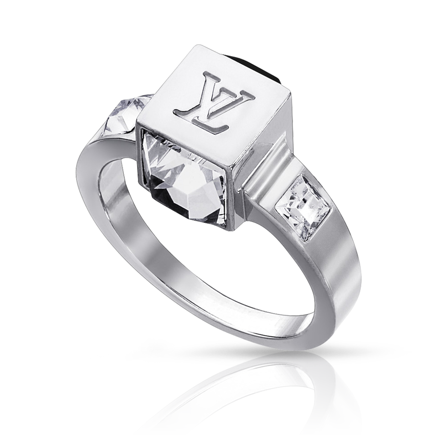 louis vuitton ring. louis vuitton gamble silver light ring 0