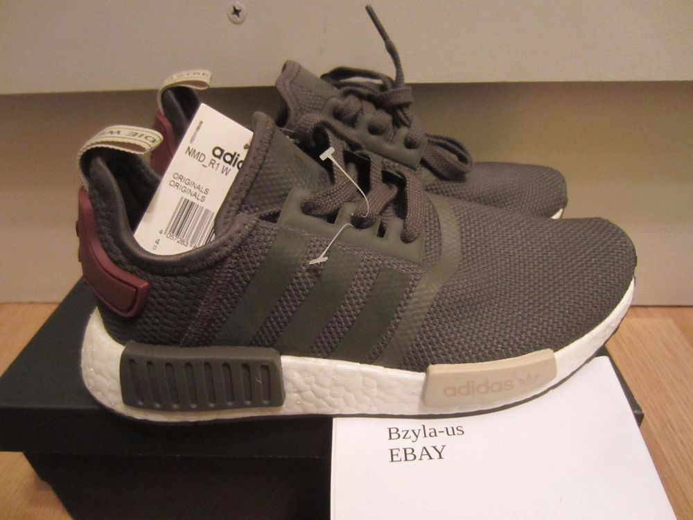 Women's Adidas NMD R1 Runner Boost Nomad BA7752 6-9 Maroon Brand New