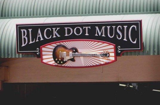 Black Dot Music Retail Sign | Danthonia Designs