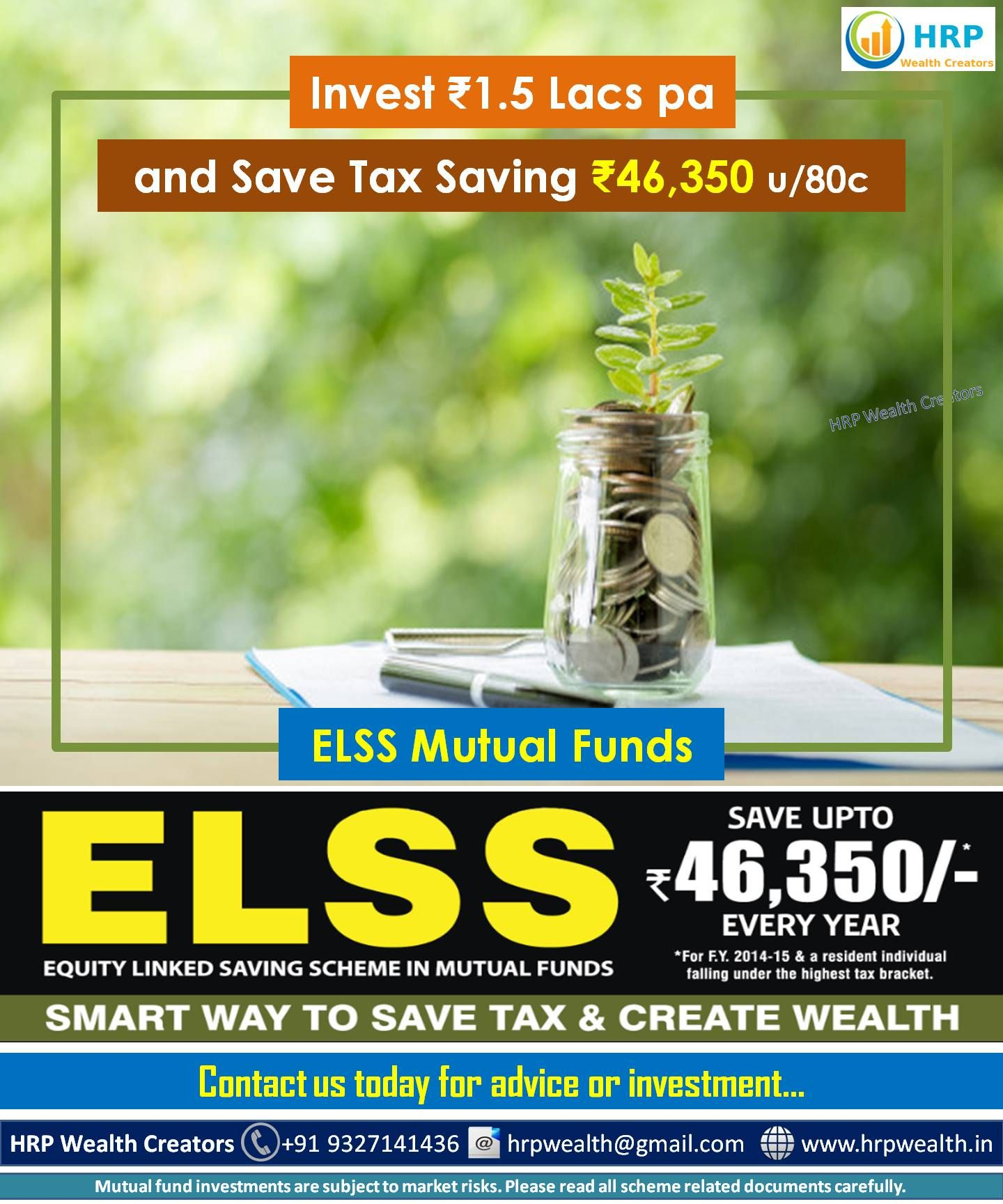 Elss Mutual Funds With A Statutory Lock In Of 3 Years And Tax