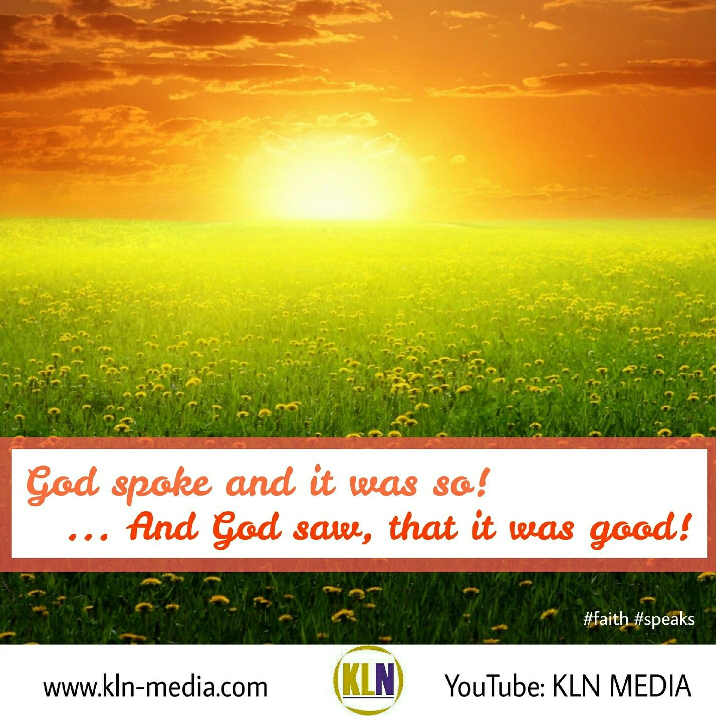 Kingdom Living Now God framed the world that we see, with His wor ...