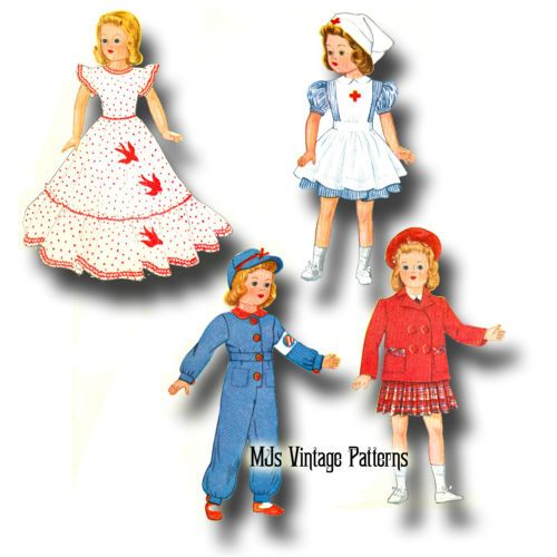 """Patsy Vtg Antique 30s Doll Pattern ~ for 18/"""" 19/"""" Shirley Temple Composition"""