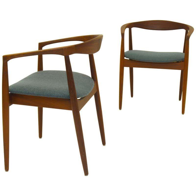 Pair Of Scandinavian Modern Armchairs Troja Danish Design By Kai Kristiansen For Sale At 1s Midcentury Modern Dining Chairs Armchair Furniture Armchair Vintage