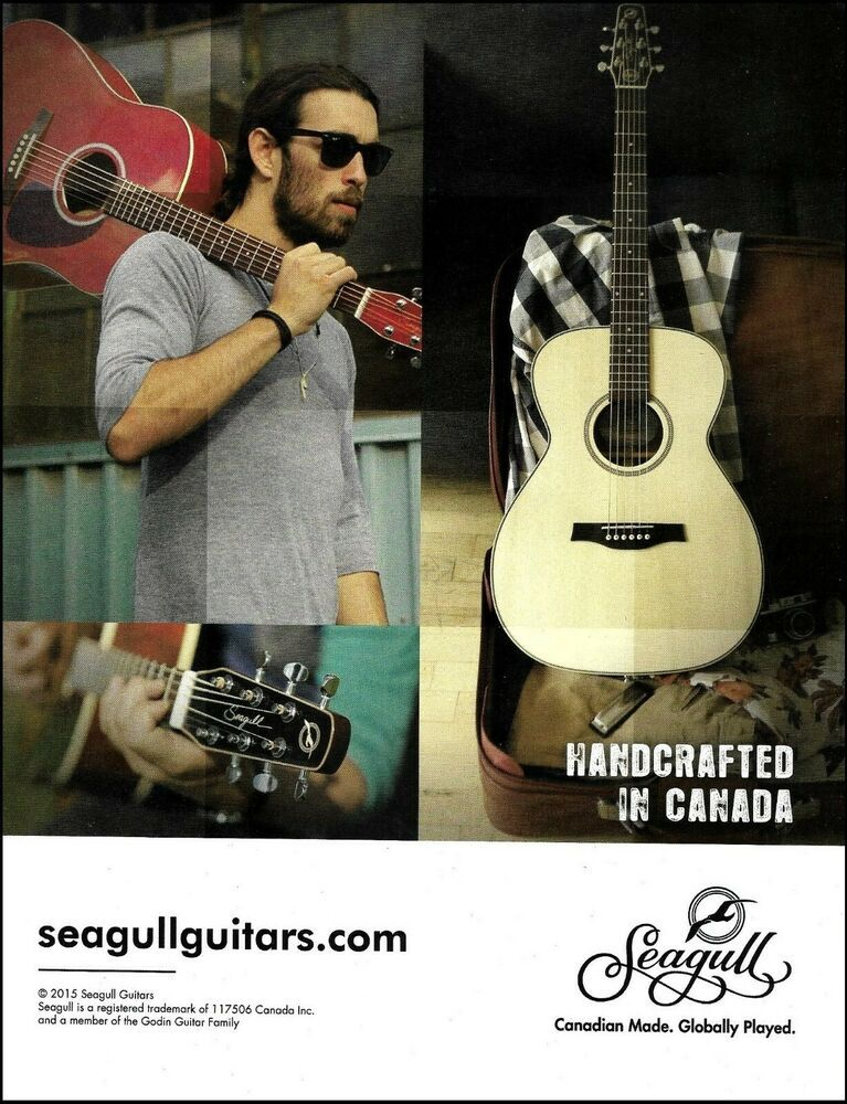 Seagull Acoustic Guitar Series By Godin Advertisement 8 X 11 Ad Print Seagull Guitar Acoustic Guitar Acoustic Guitar Strings