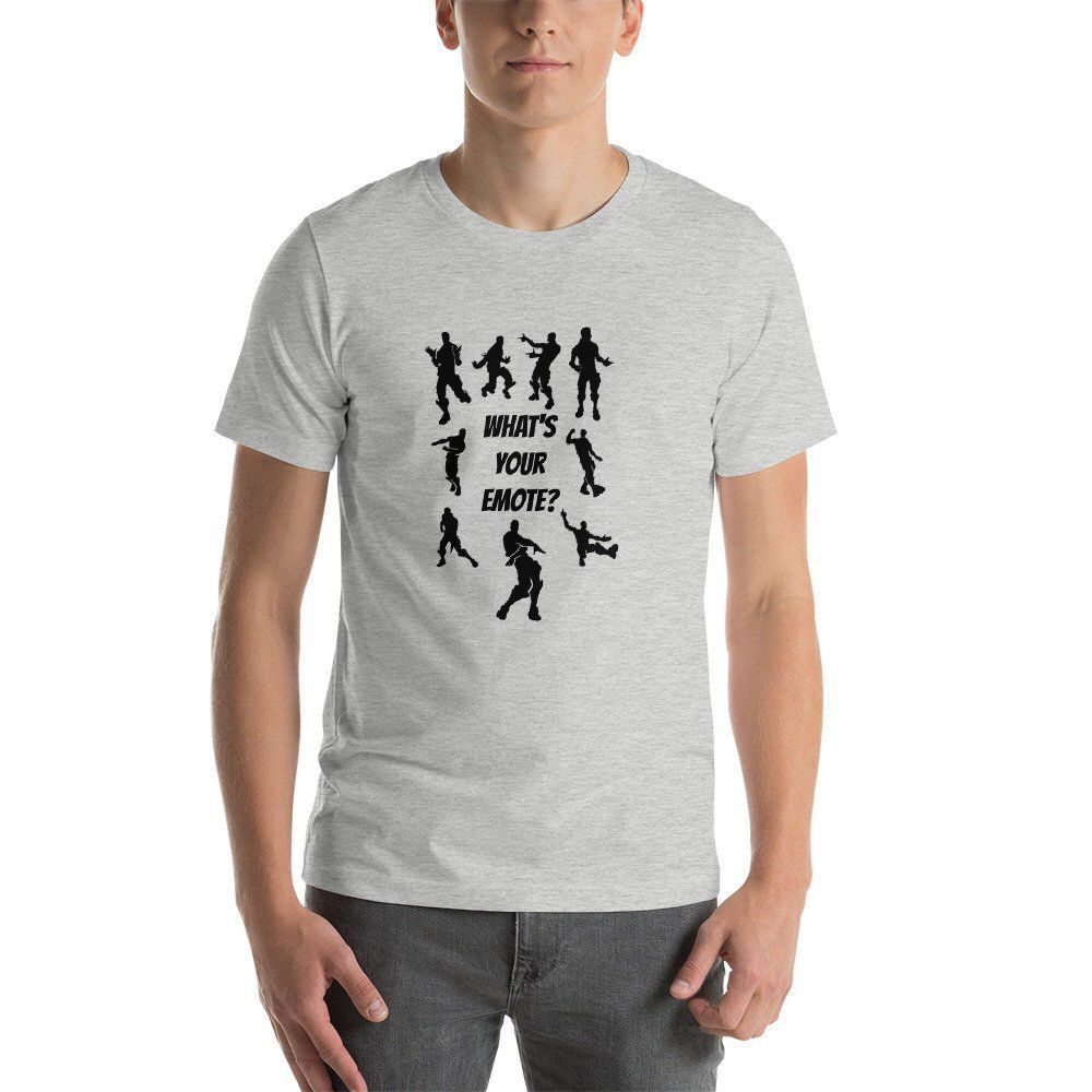 Excited to share this item from my #etsy shop: Fortnite Themed t-shirt, What's Your Emote, is the perfect shirt for gamers and those who love different Fortnite skins