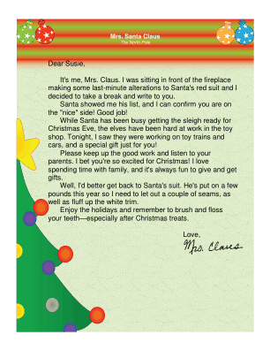 This Printable Letter Is From SantaS Wife Mrs Claus And Lets