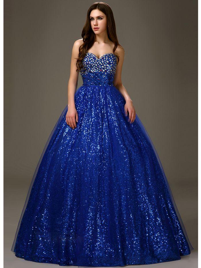 Erschwinglichen Royal Blue Langbodenlangen Sweetheart ...