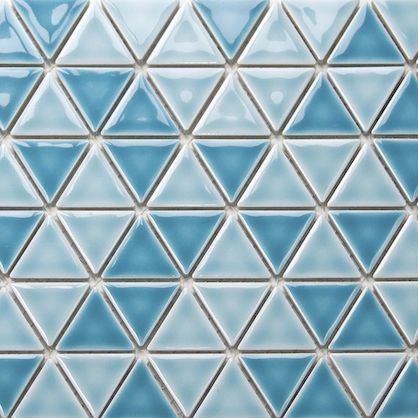 Turquoise Triangles Porcelain Mosaic (Pack of 10) Great