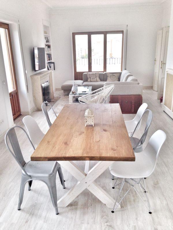 mesa de comedor cottage mesa de comedor o de cocina hecha con madera maciza con estructura