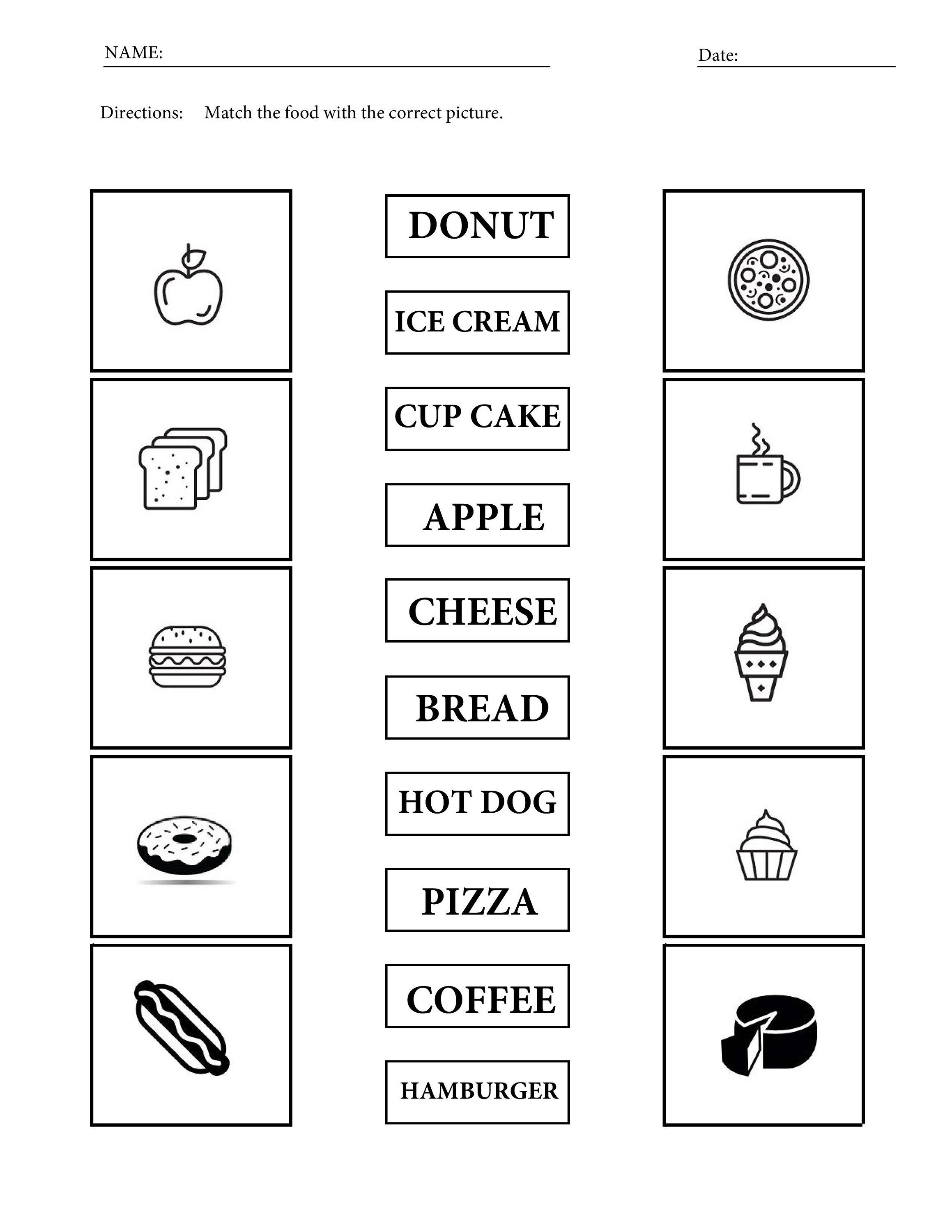 14 Printable Food Vocabulary Worksheets For Children