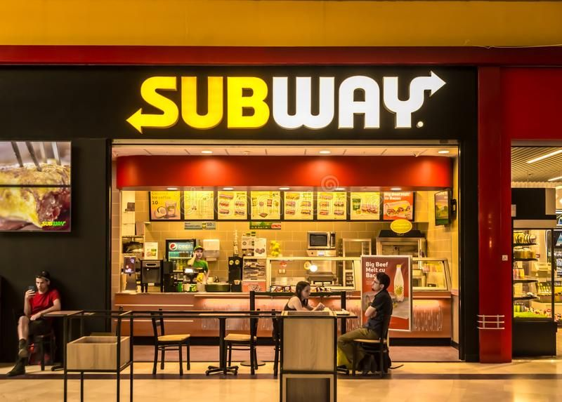 SUBWAY restaurant. In Carrefour Orhideea, Bucharest, Romania ...