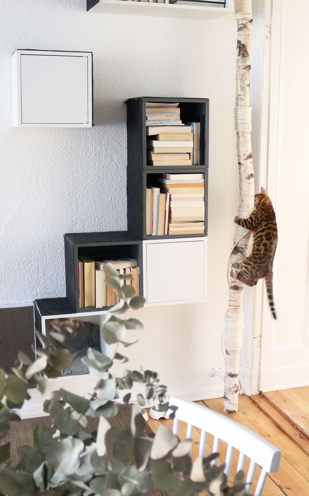Schöner Wohnen mit Katzen | Kratzbaum selber bauen ikea ...