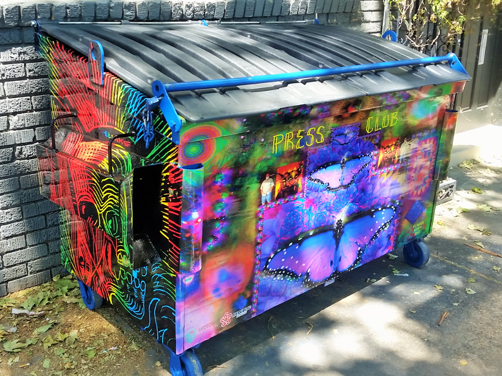 Groovy Dumpster Art Dumpster Dumpster Rental Outdoor Decor