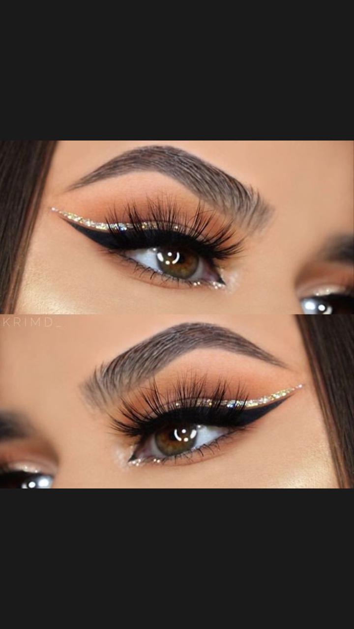 maquillaje de ojos con brillo #glittereyemakeup #glittereyemakeup  – Maquillaje