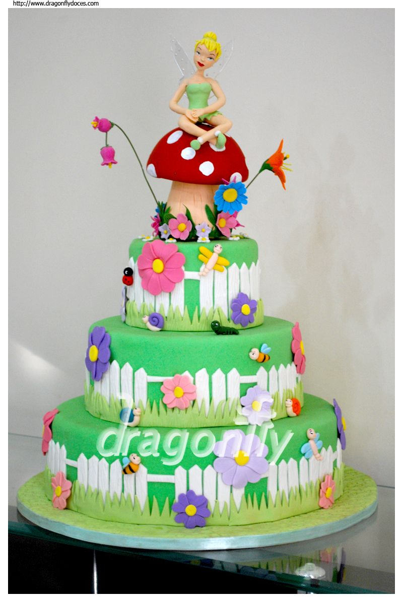 Wondrous Tinkerbell Birthday Cake Met Afbeeldingen Disney Taarten Personalised Birthday Cards Paralily Jamesorg