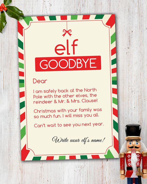 picture regarding Elf on the Shelf Goodbye Letter Printable referred to as 40 Enjoyable Innovative Xmas Elf Upon The Shelf Printables